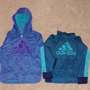 Bundle Adidas size 4T zip up and zip up hoody